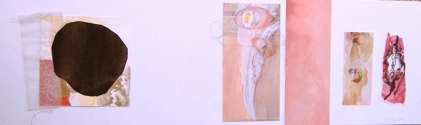 4. o.T.30x100.Dyptichon.Papier,Foto,Leder,Mischtechnik,Collageauf Leinwand