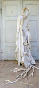 Textilobjekt Kleid Kinderpullover FilzWurzeln 2017